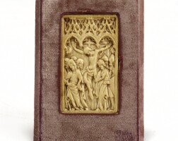 4. a gothic ivory tablet french or german, second half 14th century