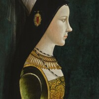 4. netherlandish or south german school, late 15th century | portrait of mary of burgundy (1458–1482), in profile