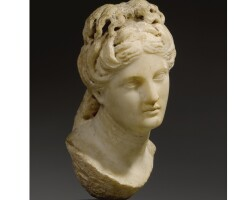 7. a marble head of aphrodite, roman imperial, circa early 2nd century a.d.