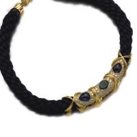 507. gem set and diamond necklace