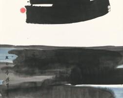 2943. 呂壽琨 禪畫 | 設色紙本 鏡框 一九七○年作
