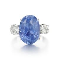 27. sapphire and diamond ring