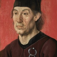 12. south german school, probably ulm, early 16th century | portrait of the architect moritz ensinger (c. 1430–1482/3)