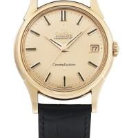206. 歐米茄(omega)   「constellation」粉紅金腕錶備日期顯示,年份約1959。