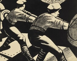 114. christopher richard wynne nevinson, a.r.a.   ramming home a heavy shell