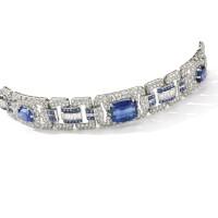 374. sapphire and diamond bracelet, 1930s