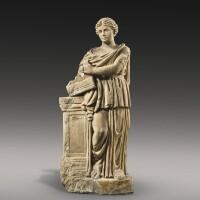 26. a roman marble figure of the muse erato or terpsichore, circa 2nd century a.d.   a roman marble figure of the muse erato or terpsichore