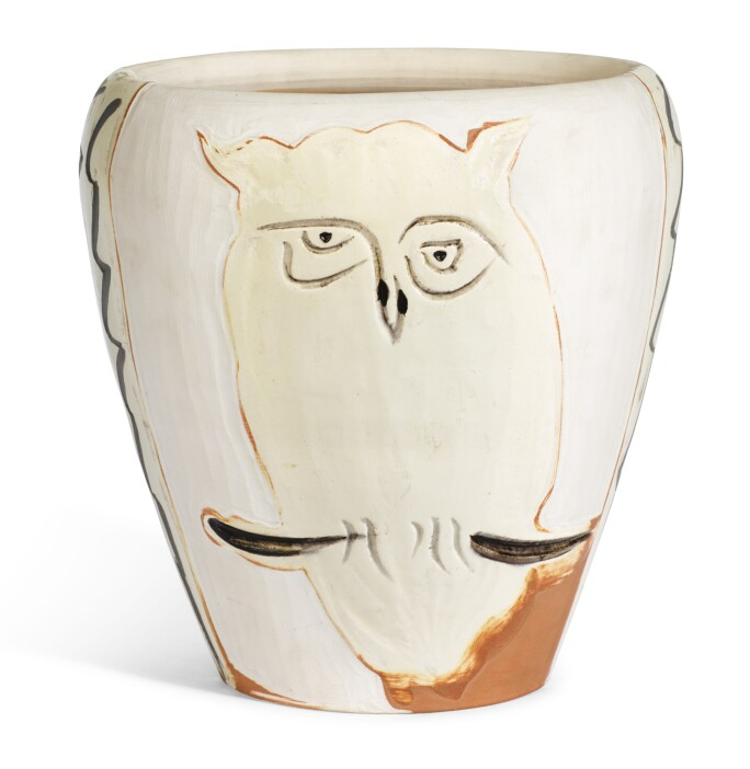 A ceramic sculpture of an owl by Pablo Picasso