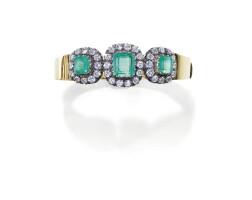 17. emerald and diamond bangle
