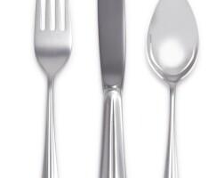 3. an american silver cordis pattern flatware set, tiffany & co., new york, 20th century |