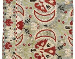 4. an ottoman silk embroidery fragment