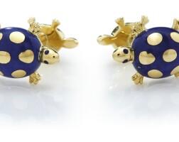 507. pair of lapis lazuli cufflinks, tiffany & co