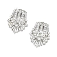 12. diamond double-clip brooch, 1930s and later