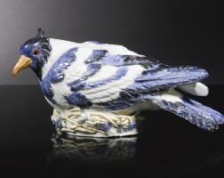 2. a meissen figure of a pigeon on a nest circa 1732-35