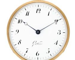 18. gutkaes, dresden   a rare gold quarter repeating and quarter striking clock watchcirca 1820, no. 9