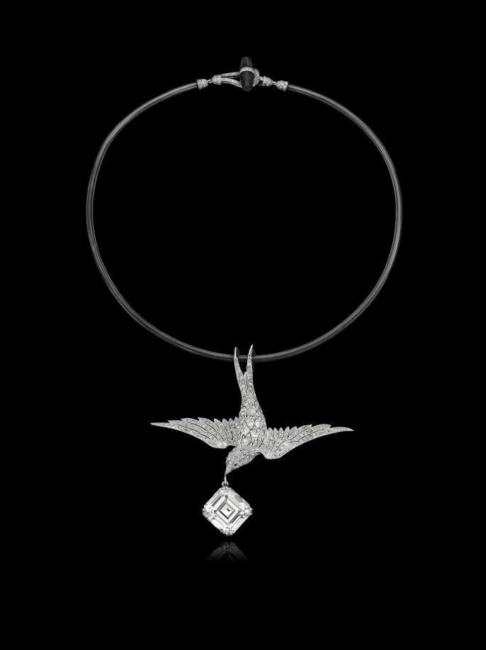 Eliane Fattal, flying swallow necklace