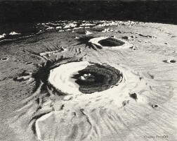 """3. bonestell, chesley. study for """"across the space frontier"""" depicting the aristillus and autolycus craters, circa 1950"""