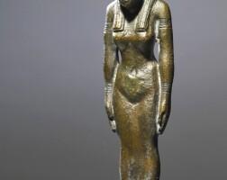 12. an egyptian bronze figure of a goddess, 26th/30th dynasty, 664-342 b.c.