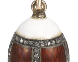 439. a jewelled enamel egg pendant, st petersburg, 1904-1908