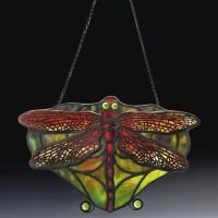 "2. tiffany studios | ""dragonfly"" lamp screen"