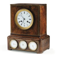 42. a french brass inlaid rosewood calendar clock, 19th century  