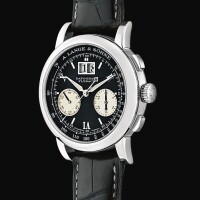 126. a. lange & sӧhne | datograph flyback, reference 403.035 a platinum flyback chronograph wristwatch with date, circa 2000