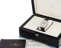 208. 百達翡麗(patek philippe)   5070g-001型號白金計時腕錶,2007年製。