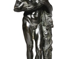 43. italian, circa 1800, after the antiquesilenusand the infant bacchus |