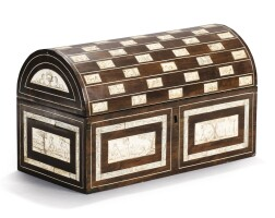 18. apartridge wood and engraved ivory casket, early 17th century |