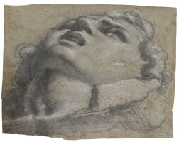 108. annibale carracci | study ofa head, possibly after the antique