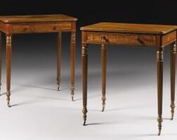 311. a pair of george iv mahogany chambertables circa 1820, attributed to gillows