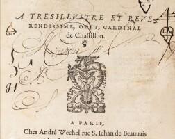109. ronsard, pierre de. les hymnes. paris, wechel, 1555. petit in-4. veau marbré du xviiie siècle.