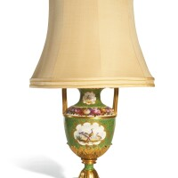 17. an english porcelain two-handled vase, as a table lamp, probably flight, barr and barr, worcester, circa 1815