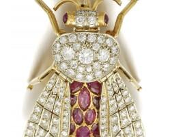 6. ruby and diamond brooch