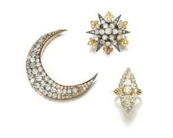 36. collection of diamond jewels, late 19th century
