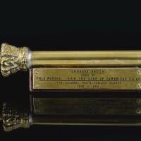 77. great britain, a 19th century brass tipstaff  