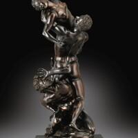 14. (傳)安東尼奧・蘇斯尼(1558-1624年),詹博隆納(1529-1608年)作品模型,意大利佛羅倫薩,約1590-1610年作 |《強擄薩賓婦女》