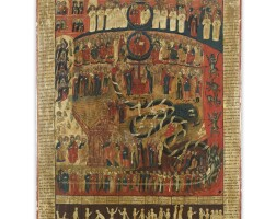26. a russian icon of the last judgement, 18th century