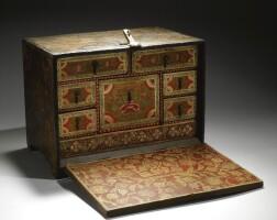 415. an ottoman money-changer's chest, turkey, 18th century