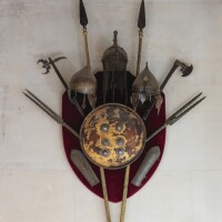 26. a display of oriental arms and armour, persia, india and turkey, 18th and 19th centuries |