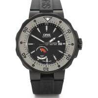 6. oris | a limited edition titanium automatic centre seconds diver's wristwatchcase 3010854 no 0854/2000 col moschin circa 2016