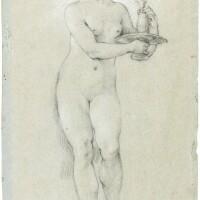 329. charles-joseph natoire   study of a female attendant holding acarafe