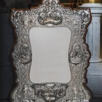 12. a monumental edwardian silver mounted wall mirror, charles stuart harris, london, 1904