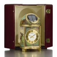 71. 百達翡麗(patek philippe) | 1357型號「pendulette dôme」銅鍍金畫琺瑯座鐘,1990年製。