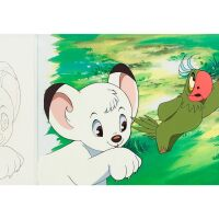1012. jungle emperor leo by mushi production | renee and coco animation cel and sketch (two works)
