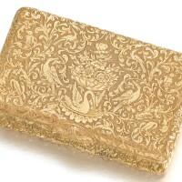 459. a gold snuff box, johann christian barbé, st petersburg, circa 1835