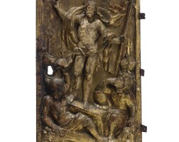 22. a spanish giltwood relief of the resurrection 16thcentury