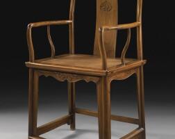 485. a huanghuali continuous yokeback armchair (nanguanmaoyi) 17th century