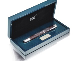 2405A. montblanc | limited edition white gold, silver and wood fountain penno 1566/4810 alexander von humboldt circa 2007