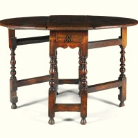 10. a william and mary yew and walnut oval gateleg table circa 1690